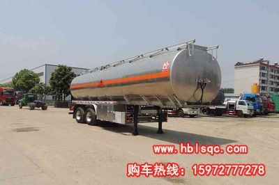 龙8国际娱乐电脑版牌SLS9353GRY型铝合金易燃液体罐式运输半挂车