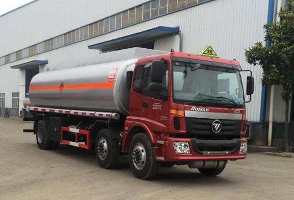 19.3立方米欧曼龙8国际娱乐电脑版牌SLS5253GRYB5型易燃液体罐式运输车