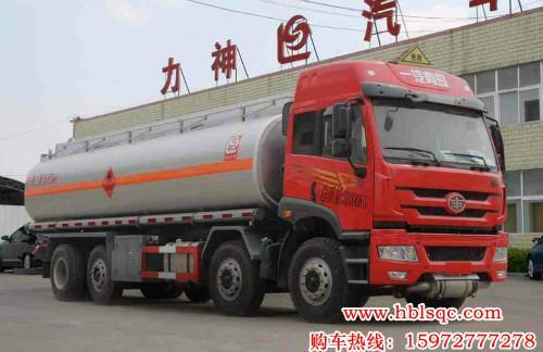 24立方解放龙8国际娱乐电脑版牌SLS5310GRYC5QA型易燃液体罐式运输车